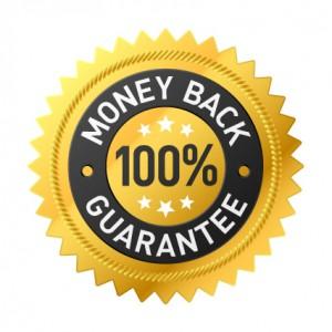 100 percent money back guarantee.